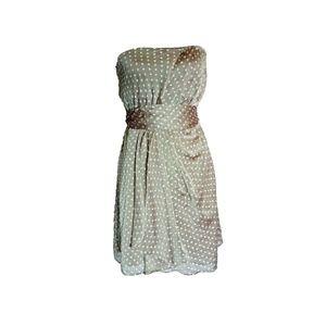 Express Strapless Polka Dot Cocktail Dress Small